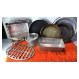 Collection of Pie Plates Racks and Baking Pans