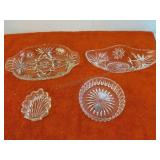 4 Decorative Glass Candy Bowls