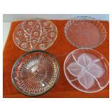 4 Piece Decorative Plates