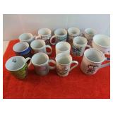 14 Decorative Assorted Coffee Cups