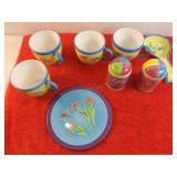 8 Piece Decorative China Pottery