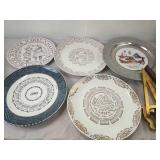 Assorted Ceramic Collectors Plates and pair of
