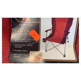 Camp smart folding arm chair with carrying bag