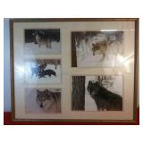 5 Picture Wooden Frame 27 1/4 x 33 1/4