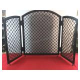 Decorative Iron Fireplace Cover 49 x 30