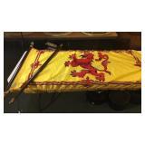 Scottish Flag & Pole 3x6 Foot Flag