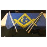 Masonic Flag & Poles 3x5 Foot Flag