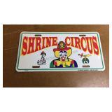 Vintage Shrine Circus Vanity Plate