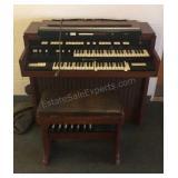 Electric Hammond Organ W/ Bench