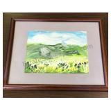 "Framed Signed Painting  18""x22"" frame"