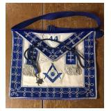 Vintage Masonic Apron W/ Pendant