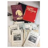 Lot of Vintage Song Books