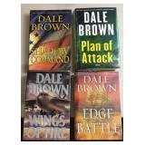 Lot of Dale Brown Hard Cover Books