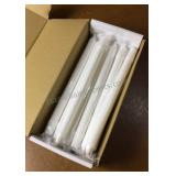 """Lot of 12"""" White Candles 19 Total"""