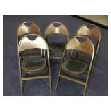 Lot of 5 Wood Lodge Folding Chairs