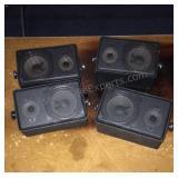 Set of 4 Black Quam Speakers