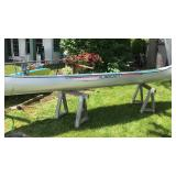 Vintage AlumaCraft 4 Person Canoe 16ft Long 35""