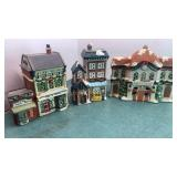 3 Ceramic Town Buildings