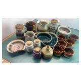 Stoneware Bowls, Cup, Pitcher, Dishes, & More