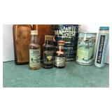 Collection of Antique Bottles, Yuengling can and