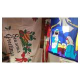 Christmas Flag 3x5ft Poinsettia Windsock and