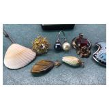 Vintage Sea Shell Necklace Rings and other