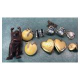 Vintage Cameo Earring and Pendant set and more