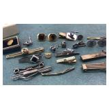 Collection of Vintage Cuff Links, Tie Pins, Tie