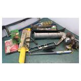 Stanley Dry Wall Saw, Hacksaw, Hitchballs, crow