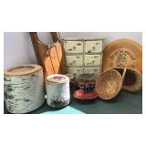 Birch Log Candle Holders Wooden 6 Drawer