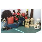 Collection of Decorative Items Candles, Wood and