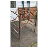 "Vintage Folding Wood Drying Rack 47"" Tall"