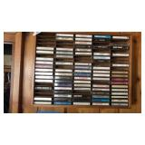 Wooden Cassette Rack 24x18 and Collection of