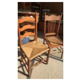 "2 Antique Chairs with Cane Seats 37"" Tall"