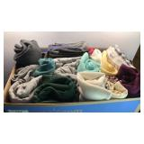 Box of Vintage Clothes Sweaters, Sweatshirts,
