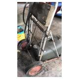 Vintage Outboard Motor Gas Can and Repair Cart