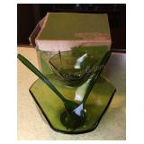 Green Indiana Glass Serving Bowls