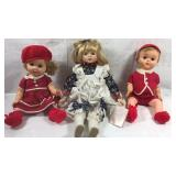 Plastic bother and sister dolls and treasures in