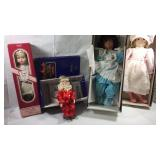 4 dolls with original boxes