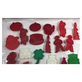 Collection of plastic cookie cutters