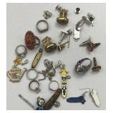 Assorted Jewelry: Rings, Cufflinks, Earrings