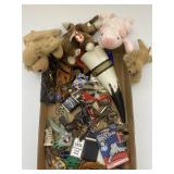Assorted Collectibles: Key Rings, Beanie Babies