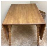 Drop Leaf Wooden Dining Room Table