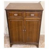 Vintage Wooden 2 Door Media Storage Cabinet