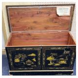 """Lane Cedar Lined Hand-painted """" Love Chest """""""