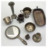 Silver, Silver Plate, Pewter Items, Hand Mirror