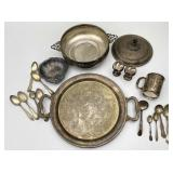 Silver Plated Serving, Spoons, Dish, Platter