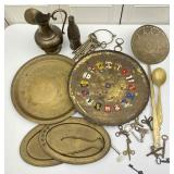 Brass Chargers, Trays, Collectibles, Decor
