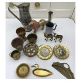 Assorted Collectibles, Metal Figurines, Decor