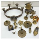 Brass Collectibles: Candle Stick Holders, Bell